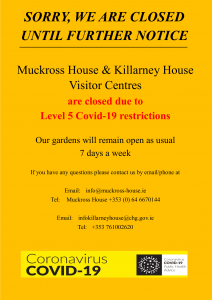 Muckross House COVID Closure Sign